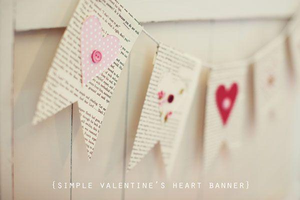 simple valentine's banner #valentinesday #bunting