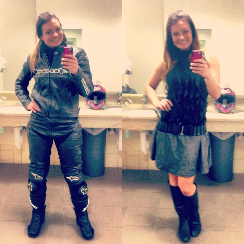 My daily transformation from alpinestars riding girl to a working lady. Gear alpinestars riding motorcycle