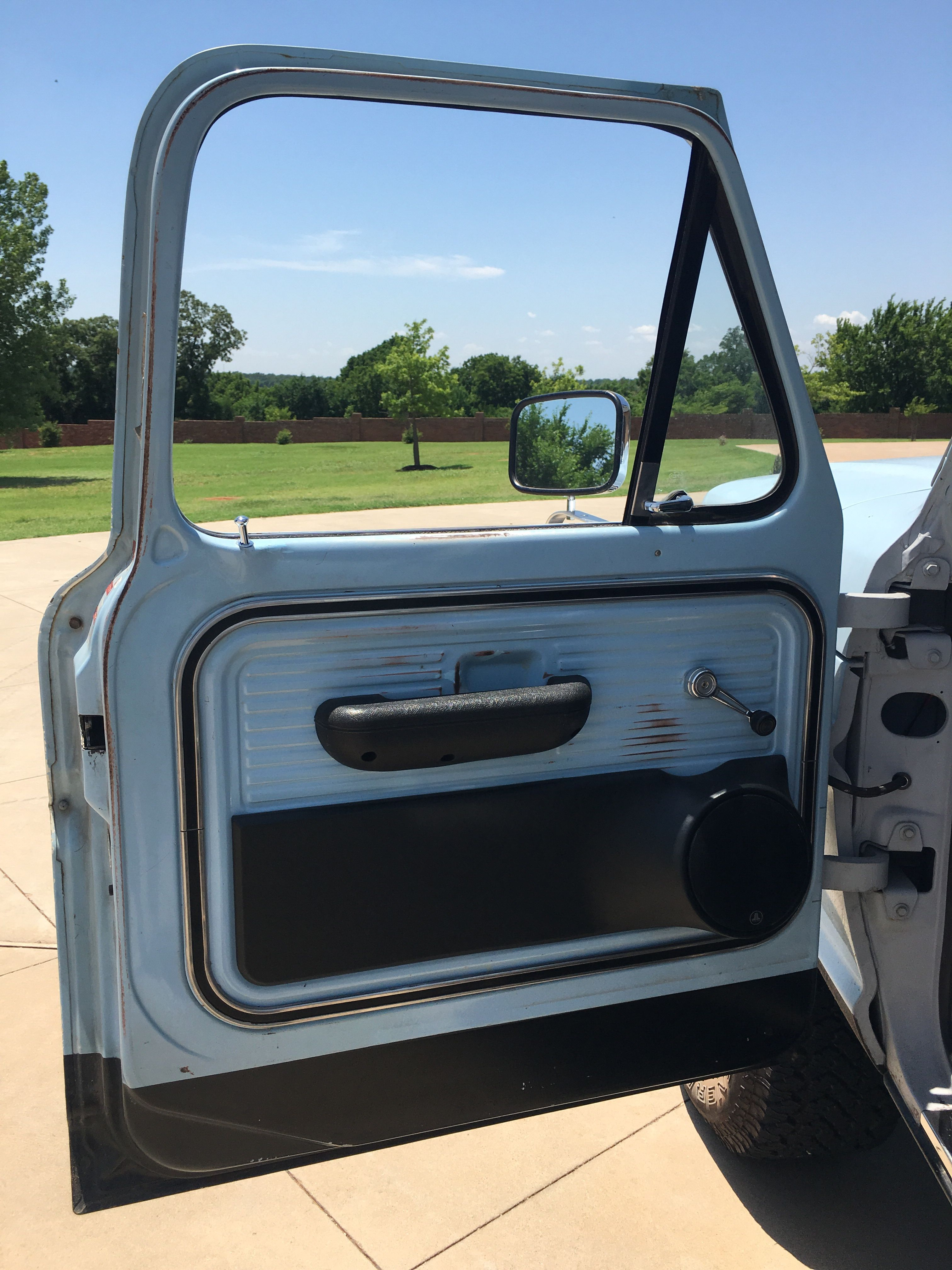 1968 Ford F100 Door Panel Speakers Old Ford Trucks Ford Trucks Old Fords