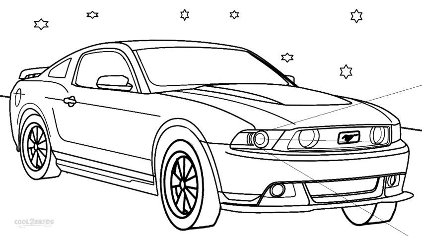 Mustang Coloring Pages Kids Printable Coloring Pages Cars