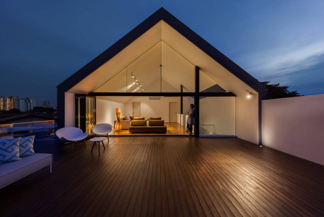 Interiors of contemporary family house by materium in singapore