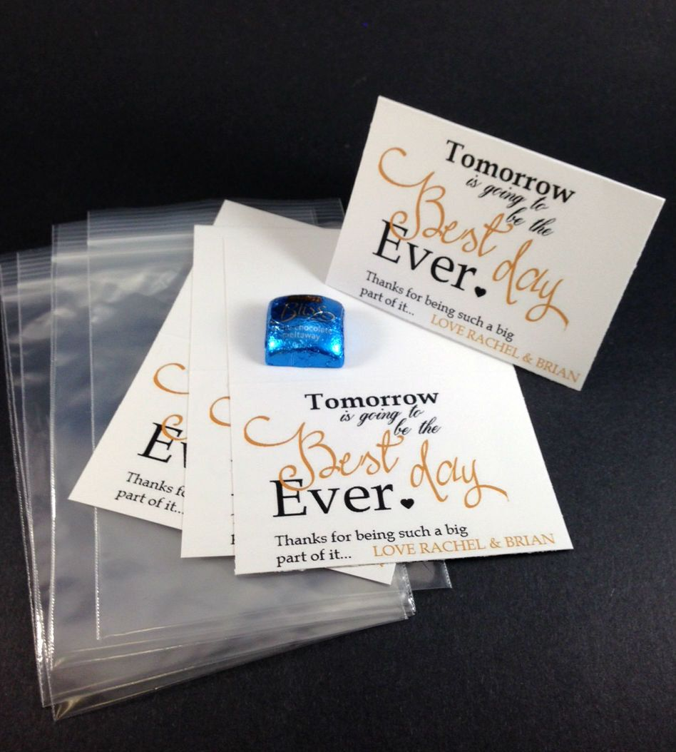 12 Wedding Rehearsal Dinner Party Favors,Tomorrow is Going to be the ...