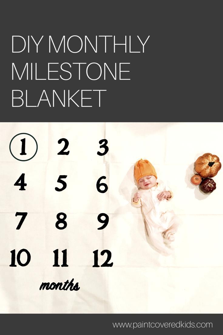 abe4b1180 DIY Monthly Milestone Baby Blanket
