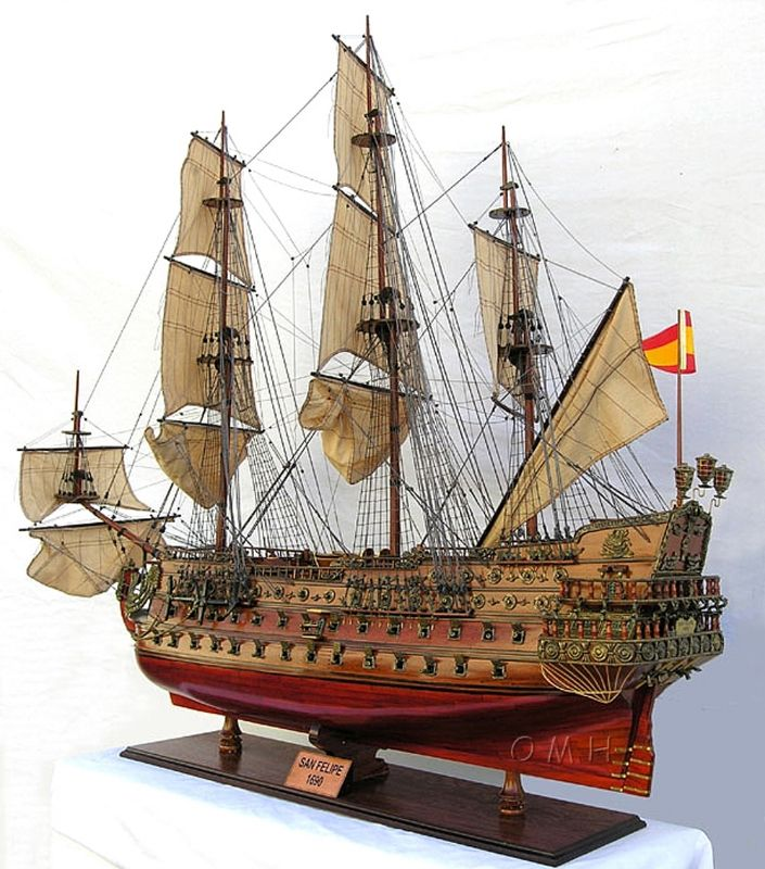 Xlarge 1690s San Felipe Spanish Galleon Ship Model Exclusive