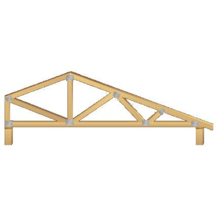 Bob Tail Truss A Truss Having The Same Pitch On Each Side However The Peak Is Not In The Center Of The Span This Resul Small House Tiny House Compact Living