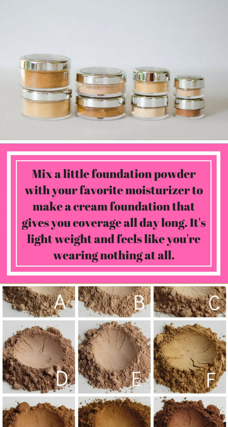 This Mineral Makeup Matte Loose Powder Foundation is for