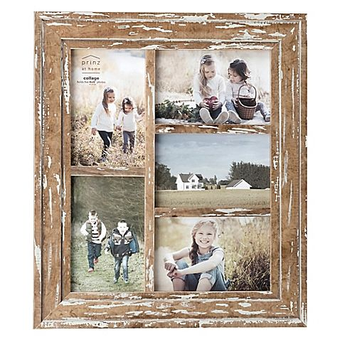 Prinz 5 Photo Old Mill Collage Wood Frame In Distressed White