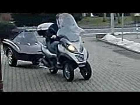 piaggio mp3 250 lt with freewheel doggy trailer | i just love