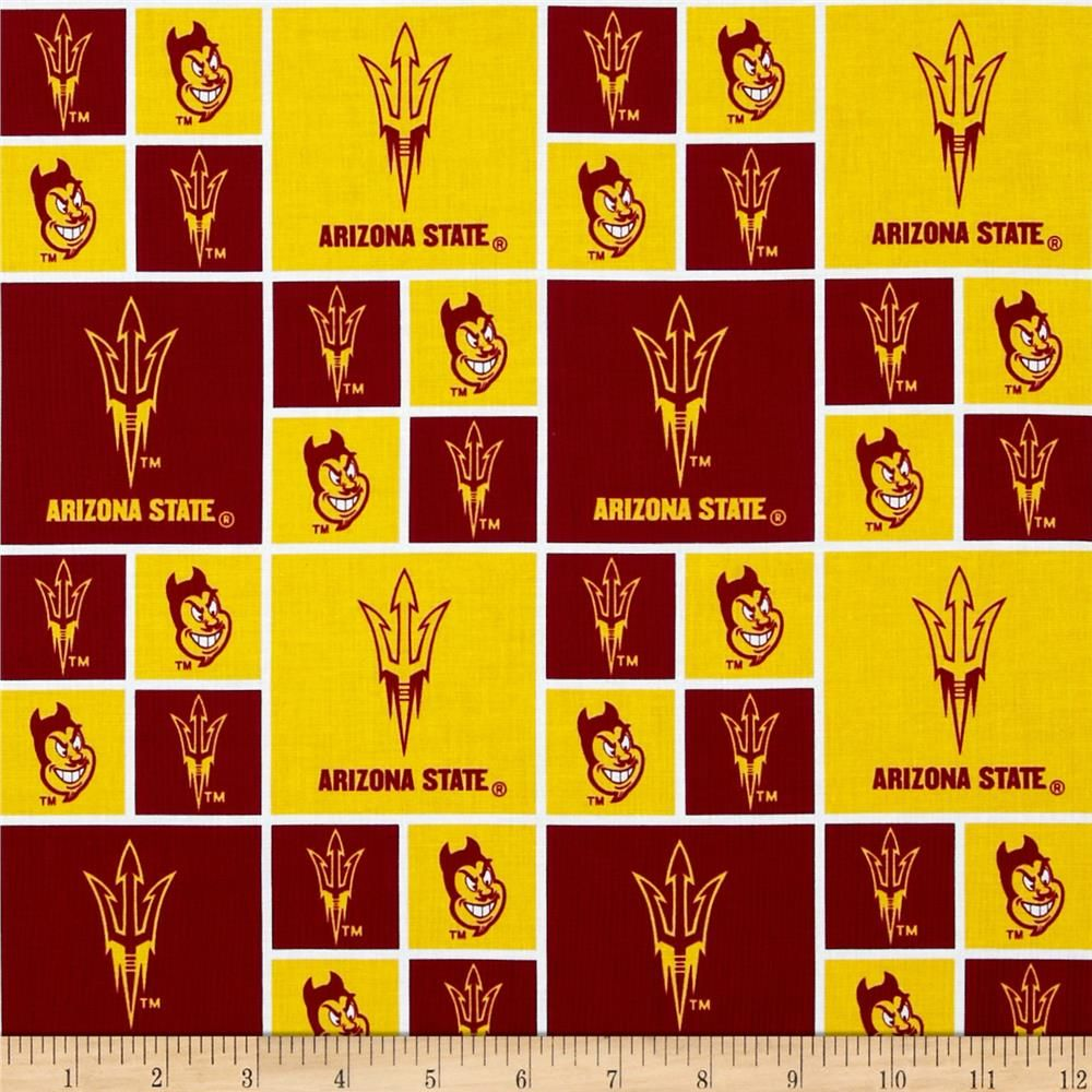 44a0d162c Collegiate Cotton Broadcloth Arizona State University Yellow from   fabricdotcom Cheer on the Sun Devils