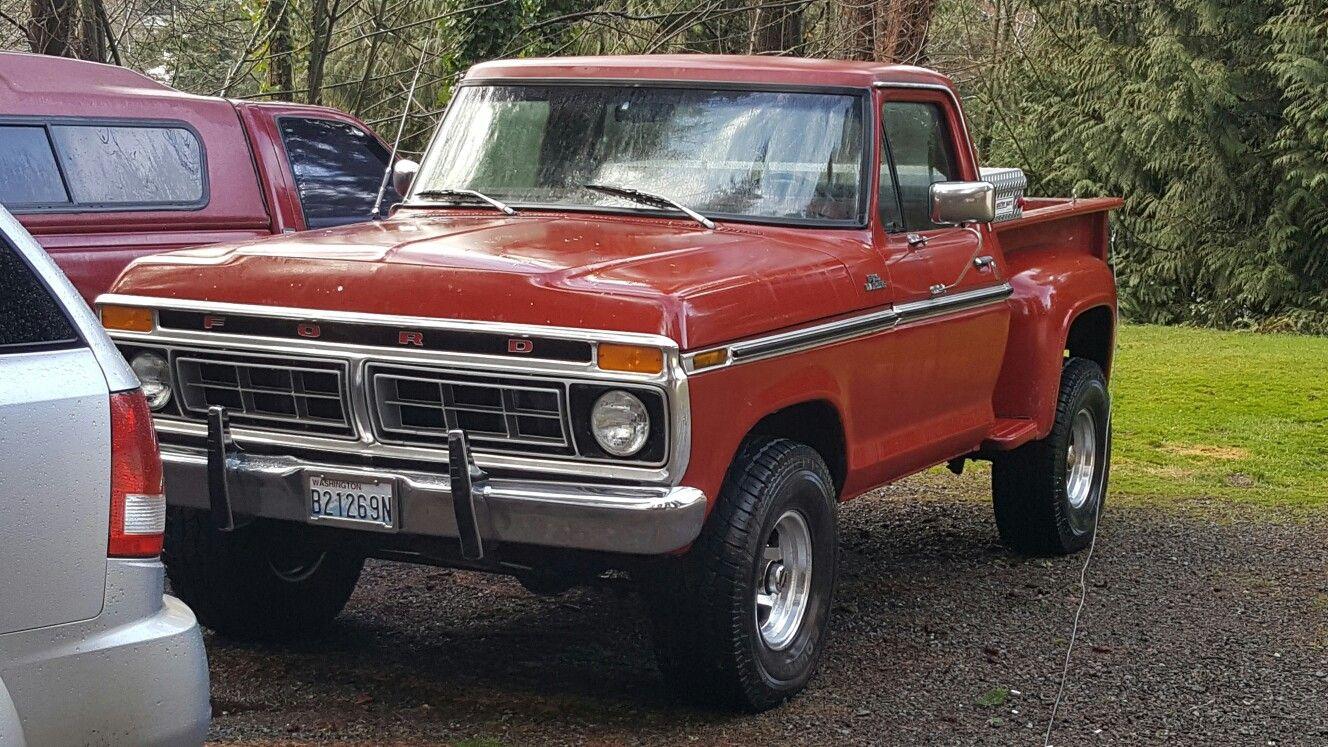 1976 ford f100 4x4 stepside [ 1328 x 747 Pixel ]