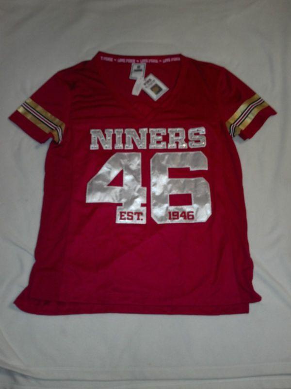 a9c18e704 Victoria s Secret PINK San Francisco 49ers Jersey Size S RARE!! BLING!!