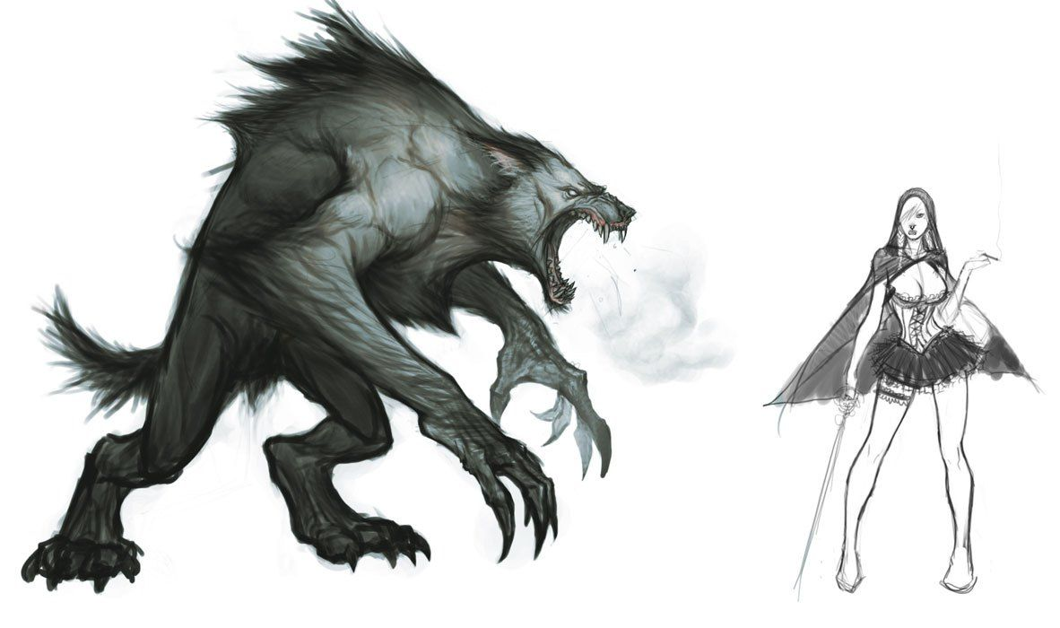 Image result for werewolf concept art