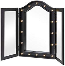 Ideas for Making your Own Vanity Mirror with Lights (DIY or BUY) images