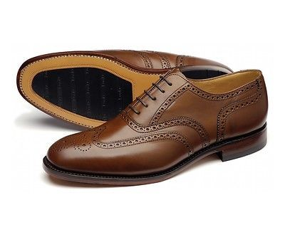 Men Loake Brown Leather Lace Up Full