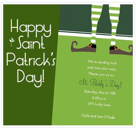 We're sending luck dinner invitations | St. Patrick's Day Dinner ...