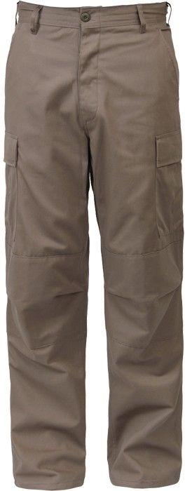 Khaki Military Cargo Polyester Cotton Fatigue BDU Pants  713667c9334