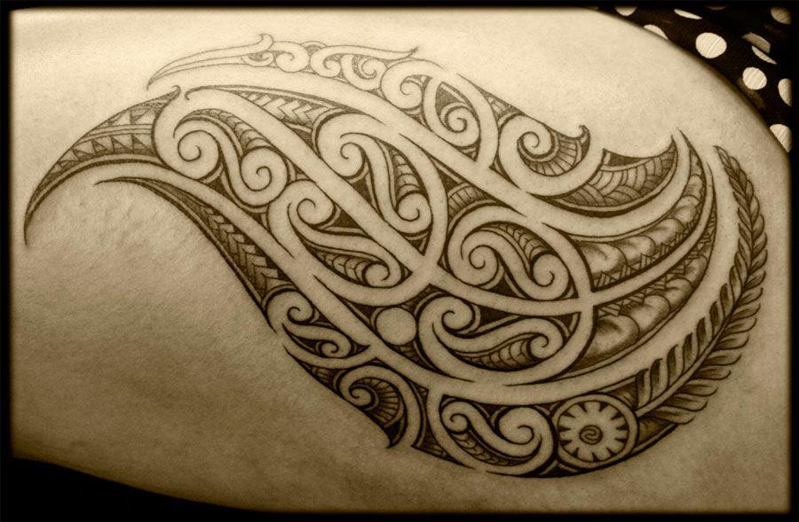 Custom Maori Tattoo Designs: Custom Maori Ta Moko New Zealand Pacific Tribal Thigh