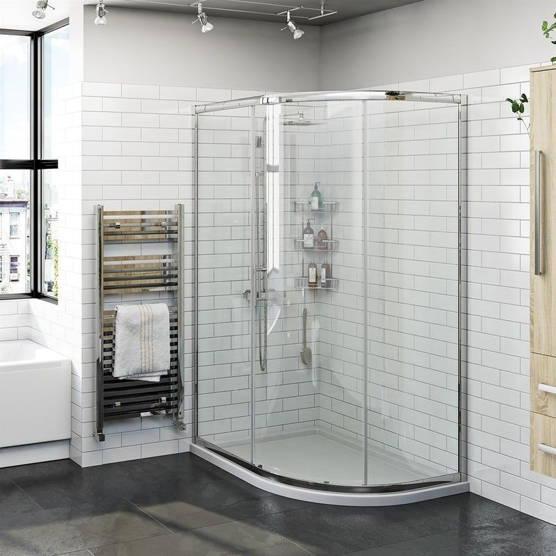 Orchard 6mm One Door Offset Quadrant Shower Enclosure Quadrant Shower Quadrant Shower Enclosures Shower Enclosure