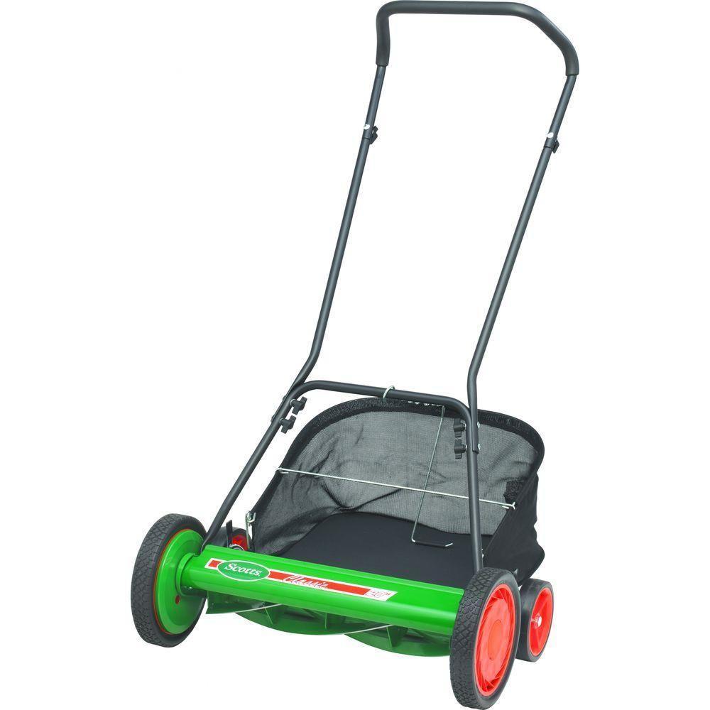 Scotts 20 In Reel Mower With Grass Catcher Reel Mower Reel Lawn Mower Lawn Mower