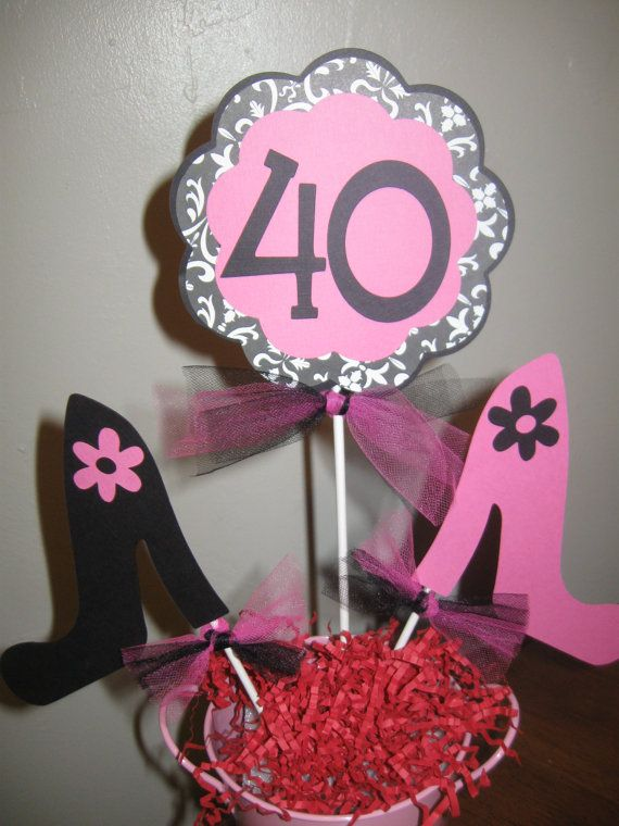 40th birthday decorations centerpiece high by for 40th birthday decoration ideas