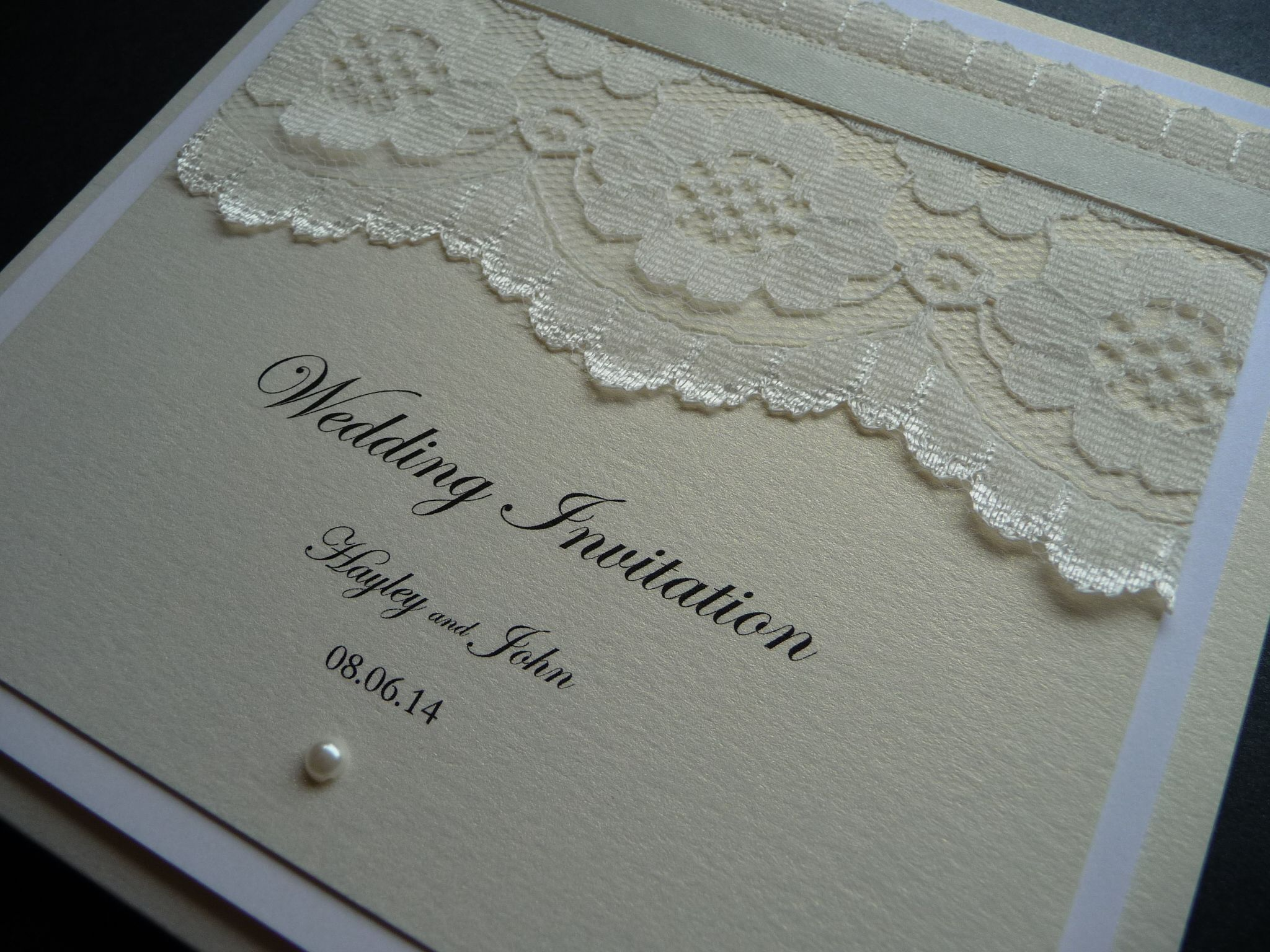 Vintage Lace Themed Wedding Invitation With Ivory And White Detailing A Pearl: Lace Inspired Wedding Invitations At Websimilar.org