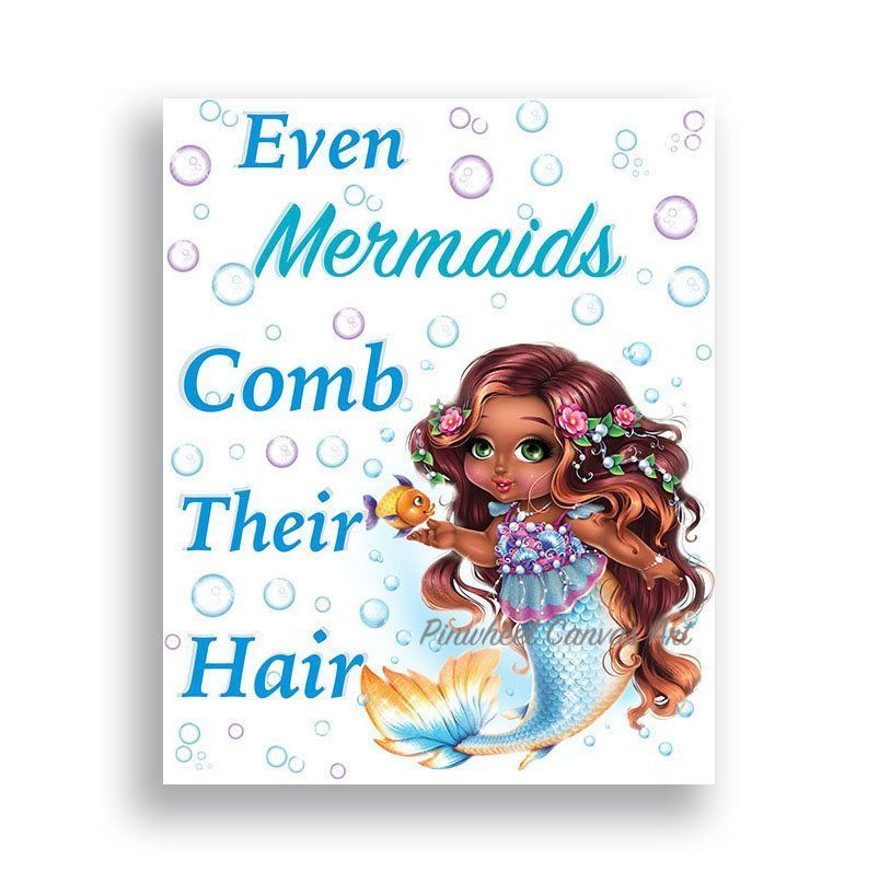 Mermaid Bathroom Decor African American Art Girl Bathroom Rules Sign Comb Your Hair Mermaid Bathroom Wall Art Girl Bathroom Decor Canvas Art #mermaidbathroomdecor Mermaid Bathroom Decor African American Art Girl Bathroom Rules Sign Comb Your Hair Mermaid Bathroom Wall Art Girl Bathroom Decor Canvas Art ★ Available as UNFRAMED PRINT or GALLERY WRAPPED CANVAS PRINT PLEASE READ!!! ★Watermark will not appear on your new art print. ★SIZING OPTIONS ★ This print is available in 6 different size #mermaidbathroomdecor