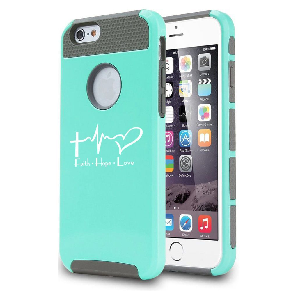 For Iphone X Xs Max Xr 6 7 8 Plus Shockproof Case Faith Hope Love Ekg Christian Volleyball Phone Cases Softball Phone Cases Iphone