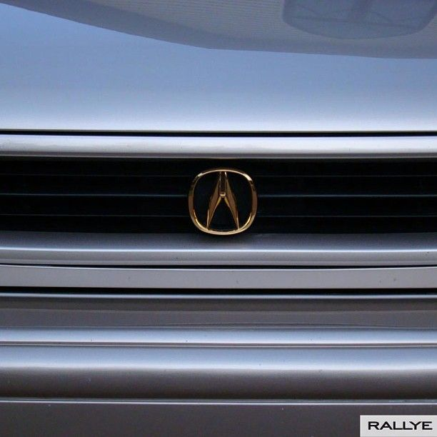 Going Retro On This #tbt With A Gold #acura Emblem And A