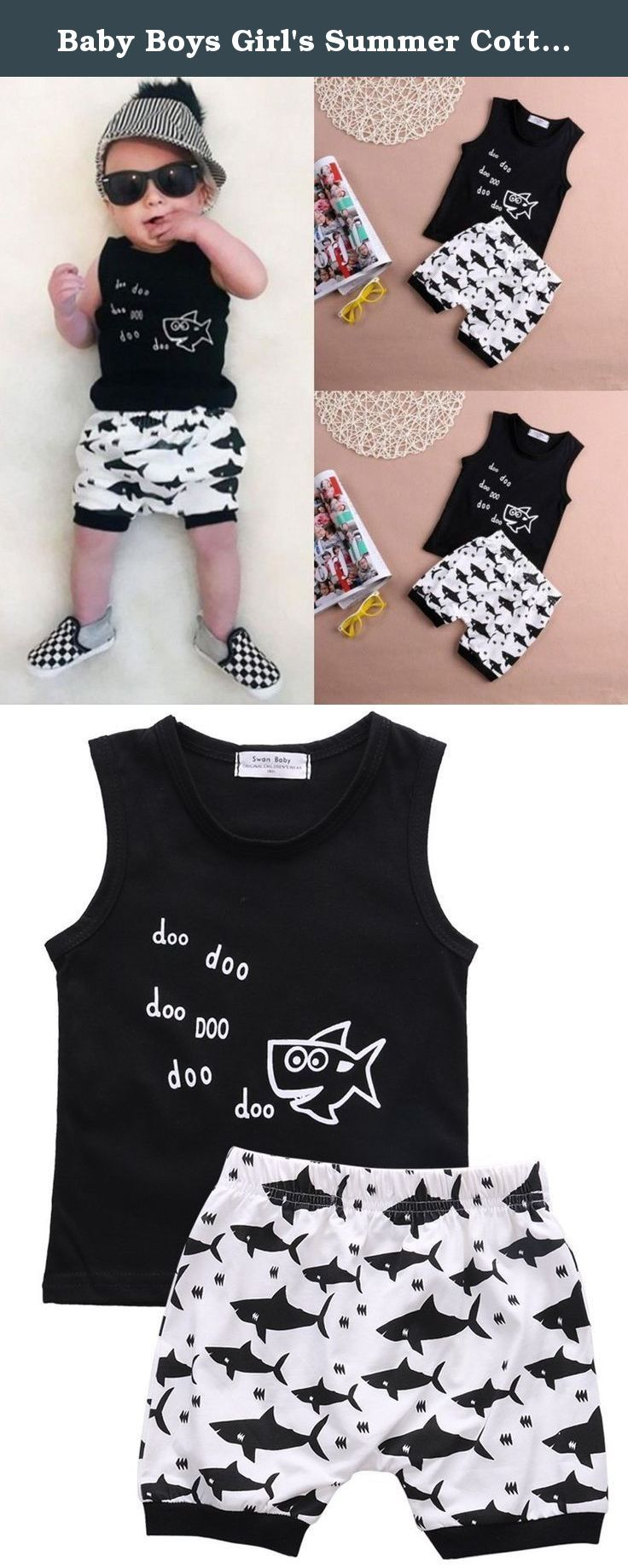5e35361f4 Baby Boys Girl s Summer Cotton Sleeveless Outfits Se…