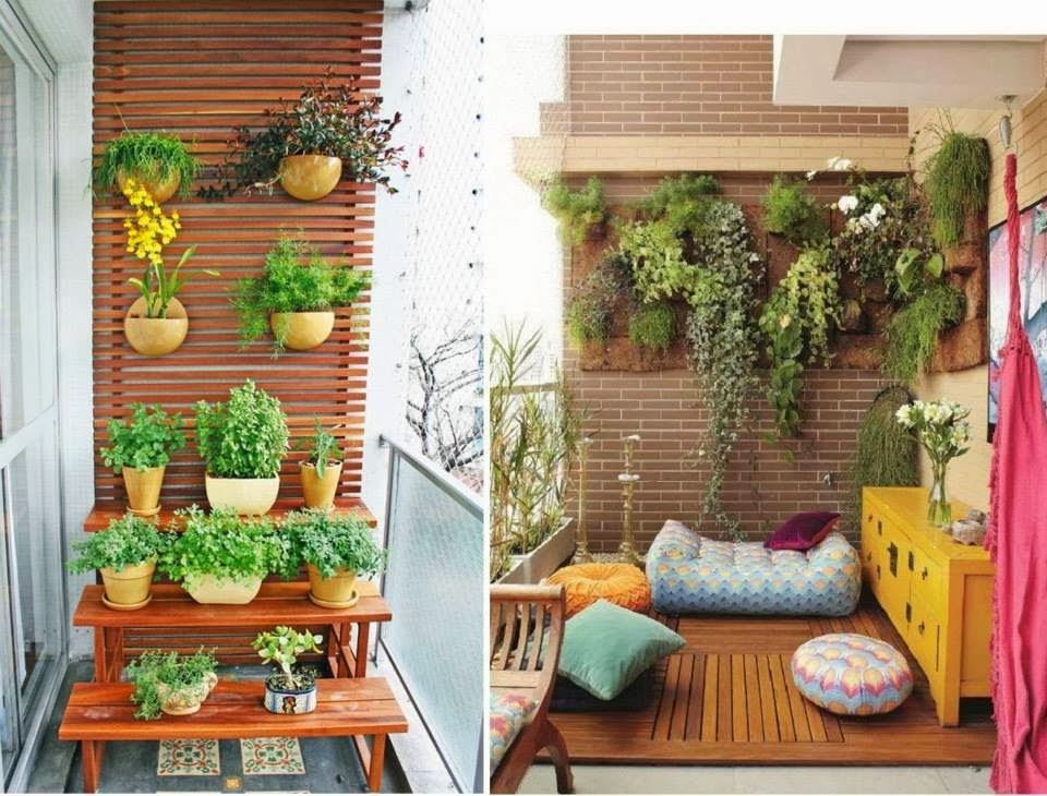 30 ideas creativas con plantas para decorar tu hogar y for Decoracion de jardines chicos