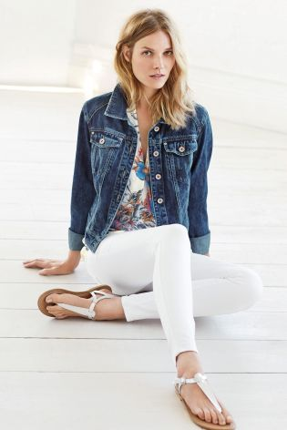 Buy Dark Wash Denim Jacket online today at Next: Israel   Clothes ...