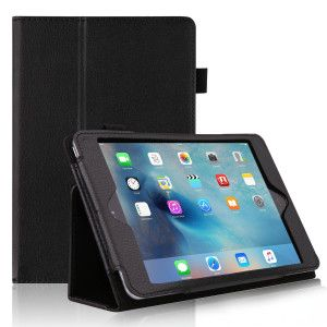litchi stria Leather Wallet for iPad mini 4 Case built-in stand (1)