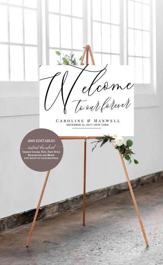 Welcome to our Wedding Sign Template, Welcome Wedding Template