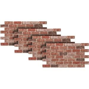 Urestone Old Town 24 In X 46 3 8 In Faux Used Brick Panel 4 Pack Ul2600pk 70 The Home Depot Faux Brick Wall Panels Brick Wall Paneling Brick Paneling