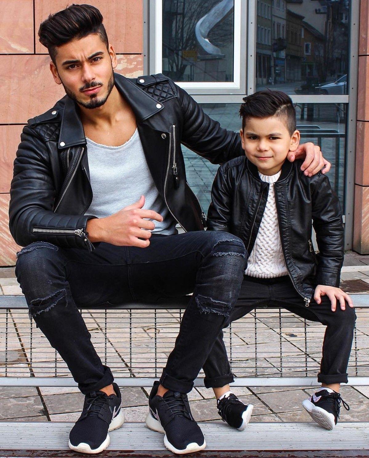 Look masculino estilo Rocker com jaqueta de couro Perfecto. Vejam mais  tendências de moda masculina outono inverno 2019 no blog Marco da Moda -  Foto  Abbas ... ed668c42e0ecc