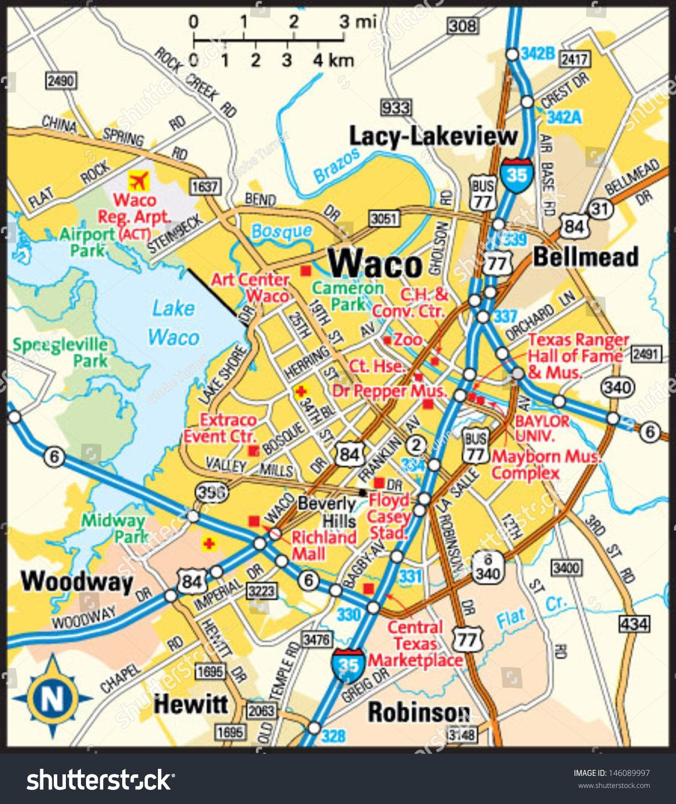 Map Of Waco Texas And Surrounding Area Image result for waco tx city map | Waco, Waco texas, City map