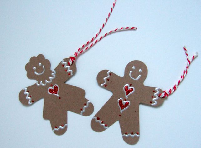 Gingerbread Man & Women Gift Tags - FREE POSTAGE £1.60