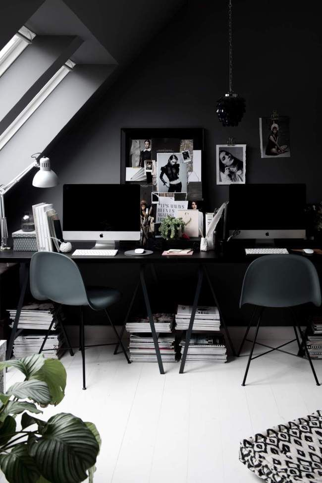 My Dark Grey Home Office In Copenhagen Gothic Home