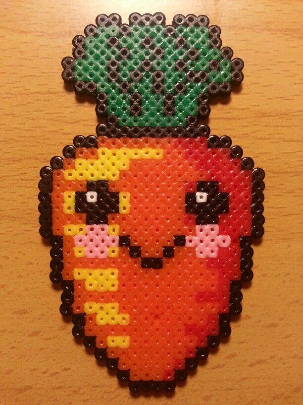 Kawaii Carrot Hama Perler Beads By Factory Beads Perlemonstre Kreativ Kreative Ideer Hama beads argentina envio gratis. pinterest