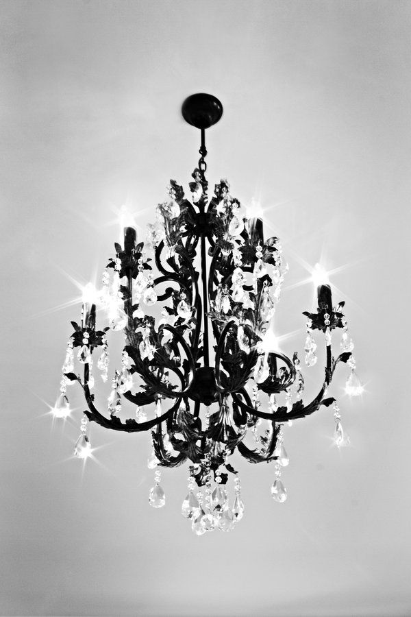 maybe not black, but love the idea of some chandeliers as decormaybe not black, but love the idea of some chandeliers as decor
