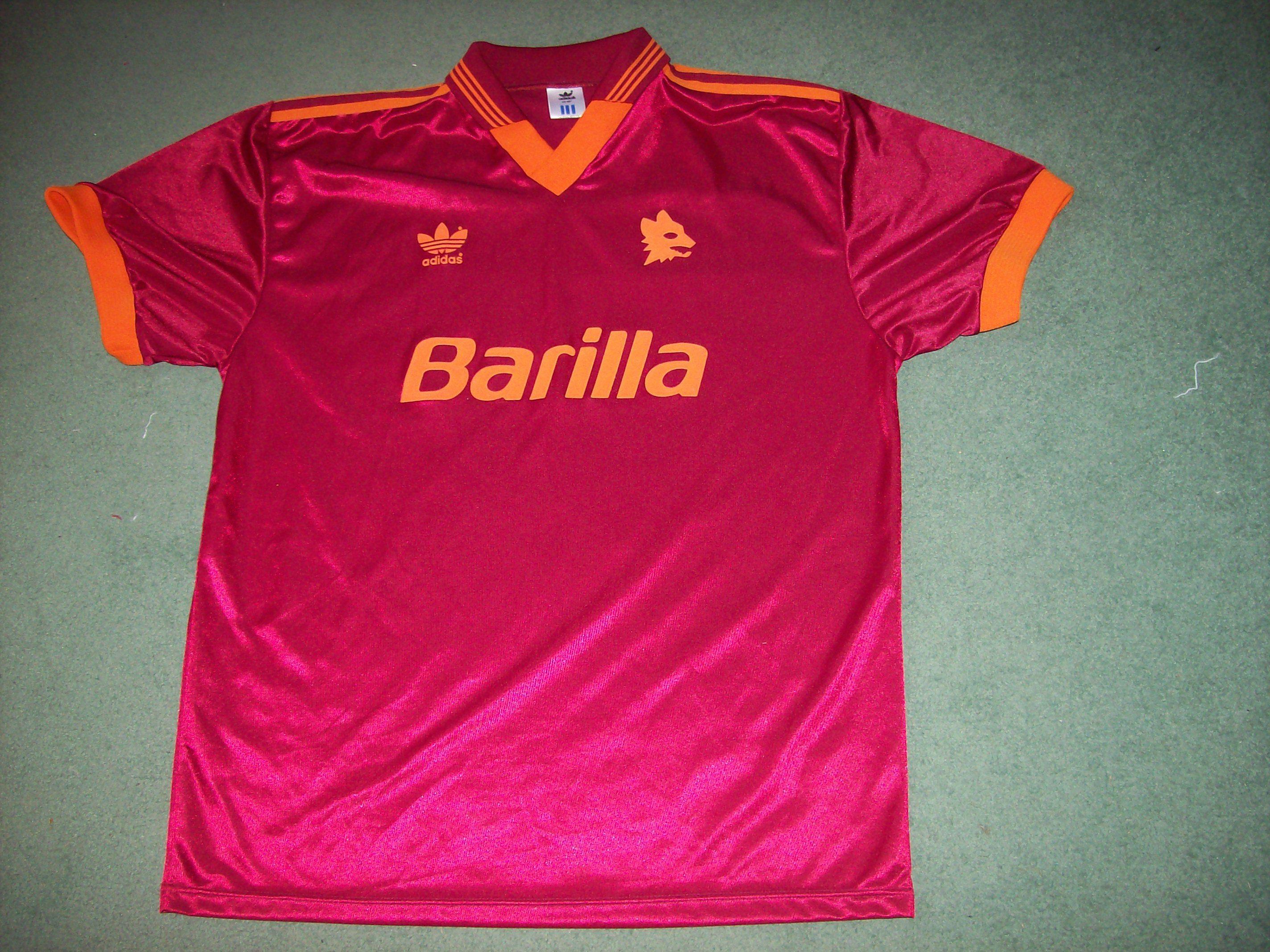 1992 1994 Roma Home Football Shirt Adults Xl Maglia Top Jersey Football Shirts Classic Football Shirts Shirts