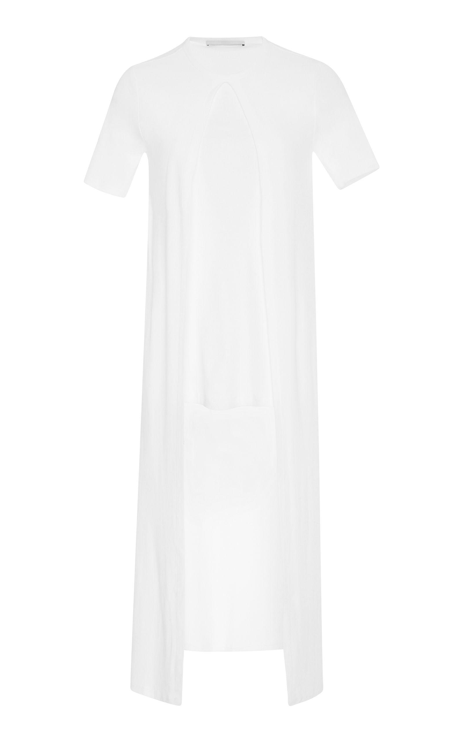 ROSETTA GETTY ROSETTA GETTY SPLIT PANEL COTTON-JERSEY T-SHIRT. #rosettagetty #cloth #