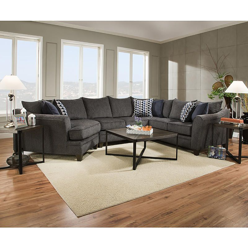 Simmons Upholstery 6485 Laf Slate Madelyn Laf End Wedge Albany Slate Sears Outlet 300 Furniture Sectional Sofa Living Room Furniture