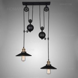 Tray adjustable height pulldown island pendant retro industrial tray pulldown ceiling pendant light chandelier lamp fixture retro industrial new mozeypictures Gallery
