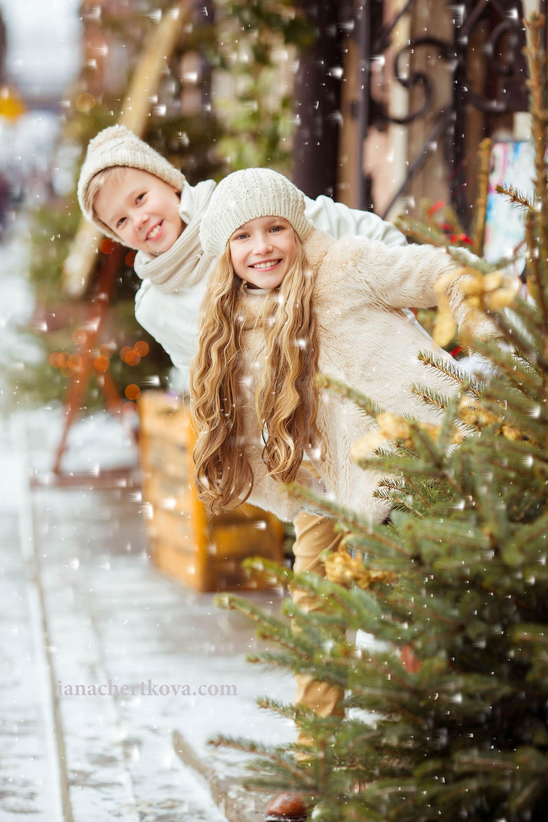 идеи для зимнего фото с детьми помещают водяную баню
