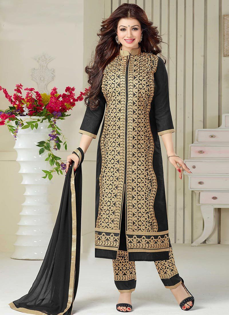 Ladies SuitsLadies Suits in Straight Pant Style 2015-16 for Women ...