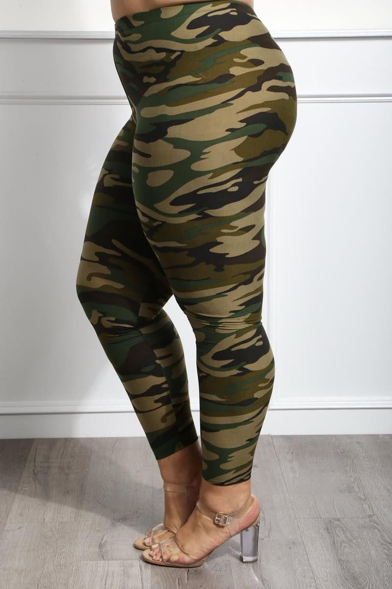d585646a0a4310 Camp Cute Plus Size Camo-Print Leggings | clothing | Size clothing ...