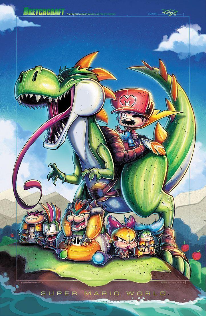 Nintendo Mario and Yoshi by Rob Duenas in robduenas.deviantart.com