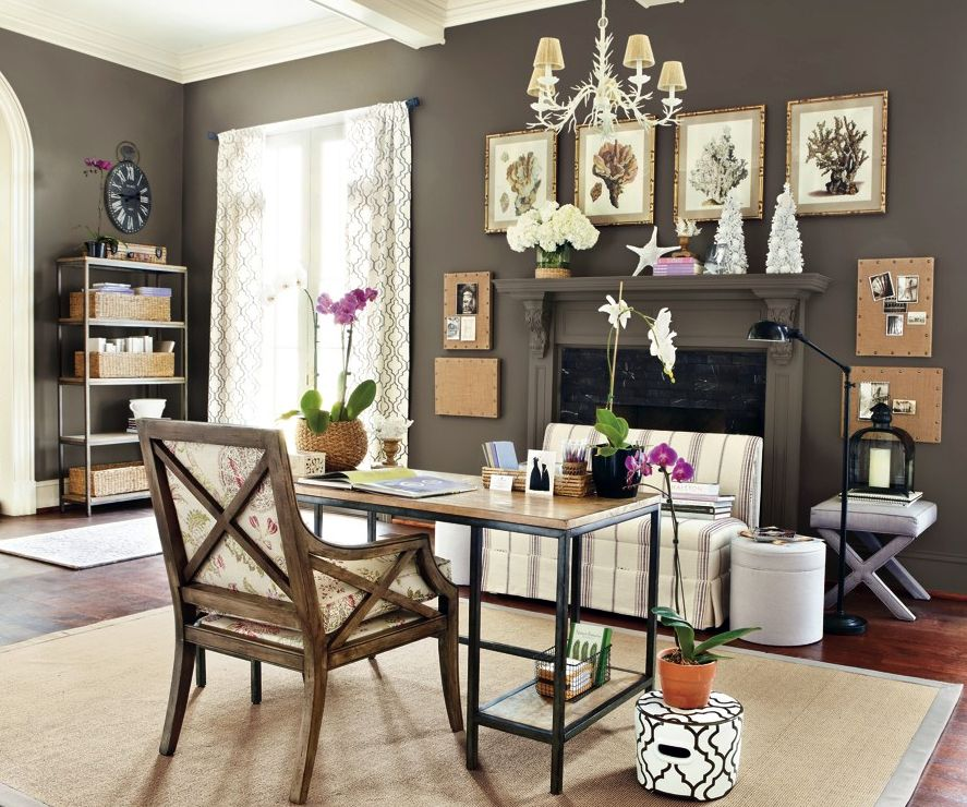 Office Furniture Houston Tx Painting: Coastal Brown Home Office