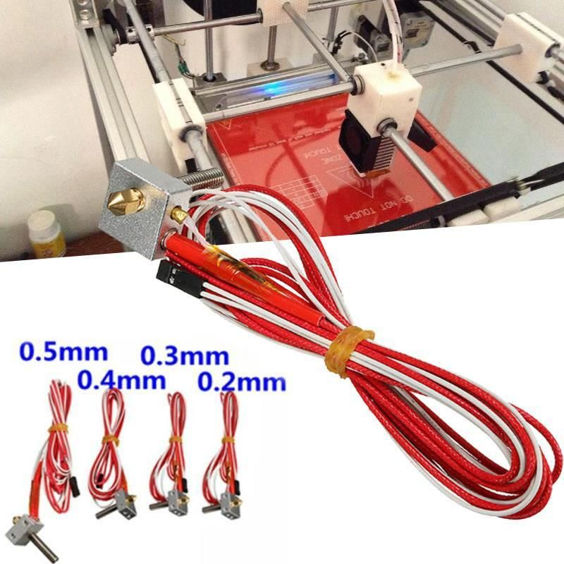 Hot End DIY Assembled 3D Printer Parts Extruder Kits with Nozzle and Tube  perfe